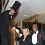 Stelzenmann Eduard mit Roberto und Mireille Blanco