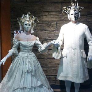 "Lebende Statue ""Venezianisches Paar"""