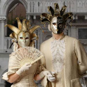 "Lebende Statue Living-Doll ""Venezianisches Paar"" Einlassanimation Firmenfest"