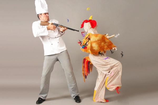 Walkact Koch und Huhn